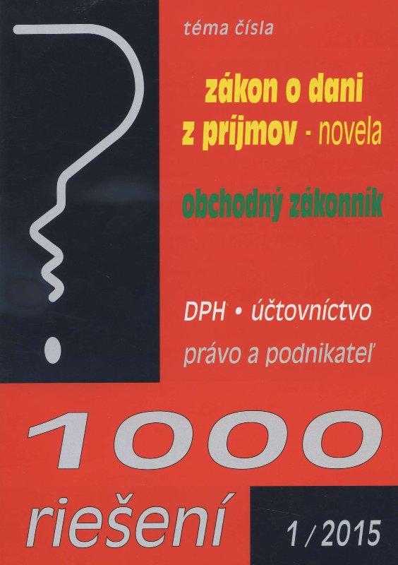 1000 riešení 1/2015