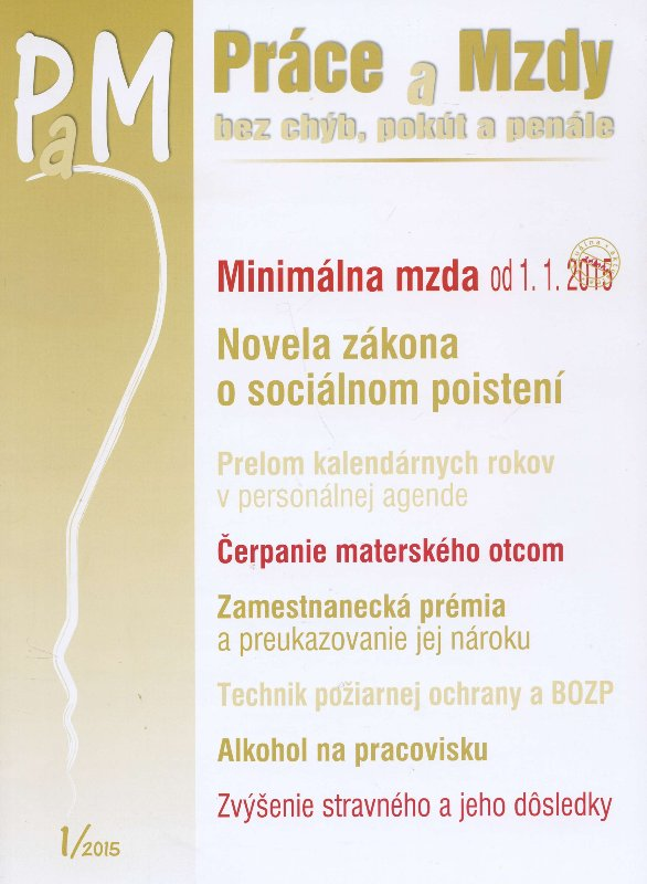 PaM 1/2015: Práce a mzdy
