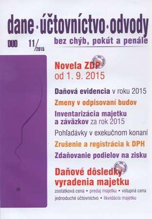 DUO 11/2015: Dane, účtovníctvo, odvody