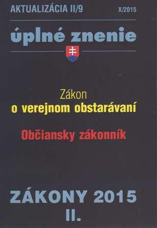 Aktualizácia II/9 - Úplné znenie / Zákony 2015/II.