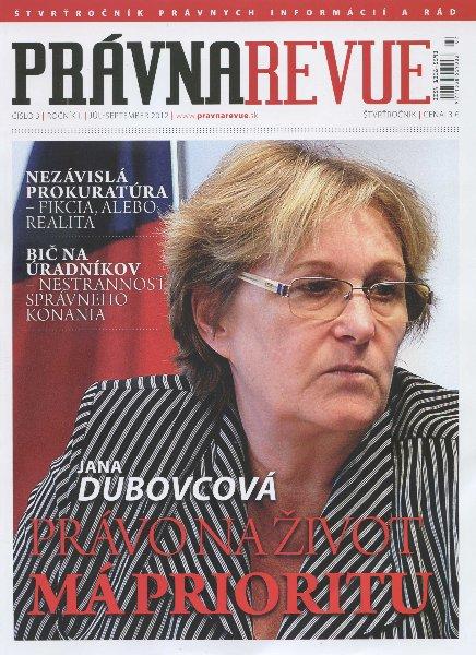 Právna Revue - číslo 3 / ročník 1 / júl - september 2012