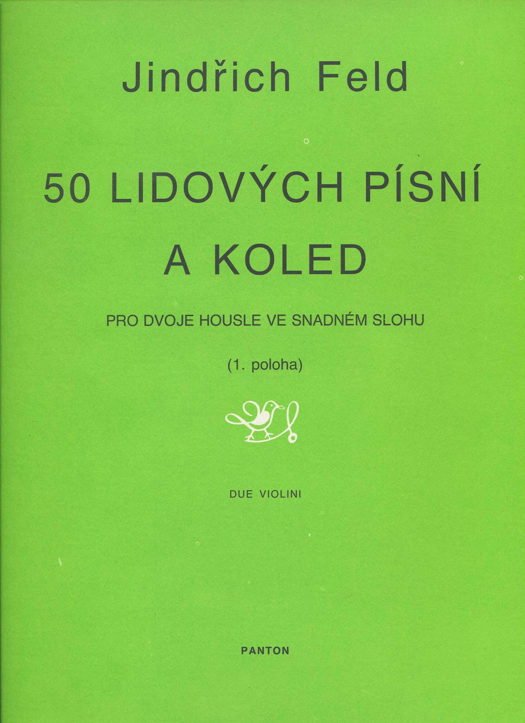 50 lidových písní a koled - pro dvoje housle ve snadném slohu / 1. poloha