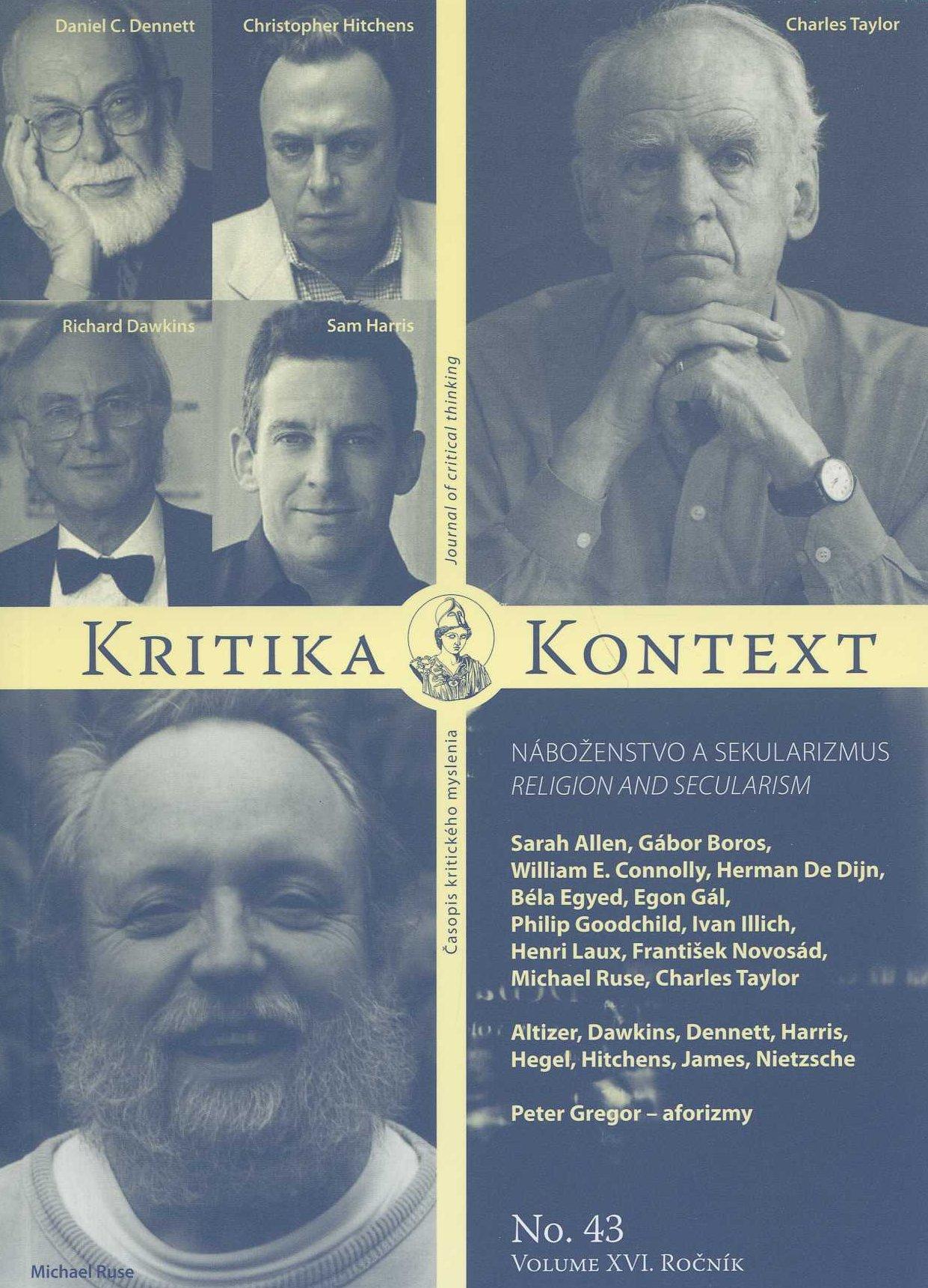 Kritika & kontext No. 43 - volume XVI, 2011 / Náboženstvo a sekularizmus
