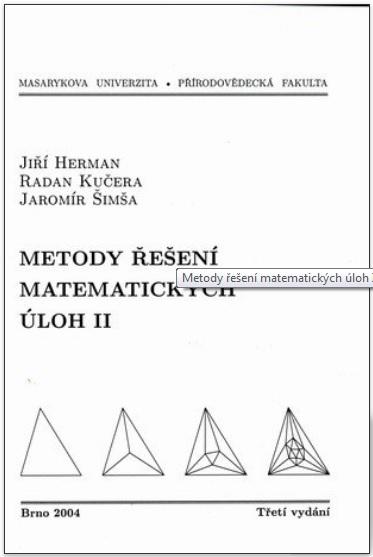 Metody řešení matematických úloh II