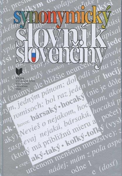 Synonymický slovník slovenčiny