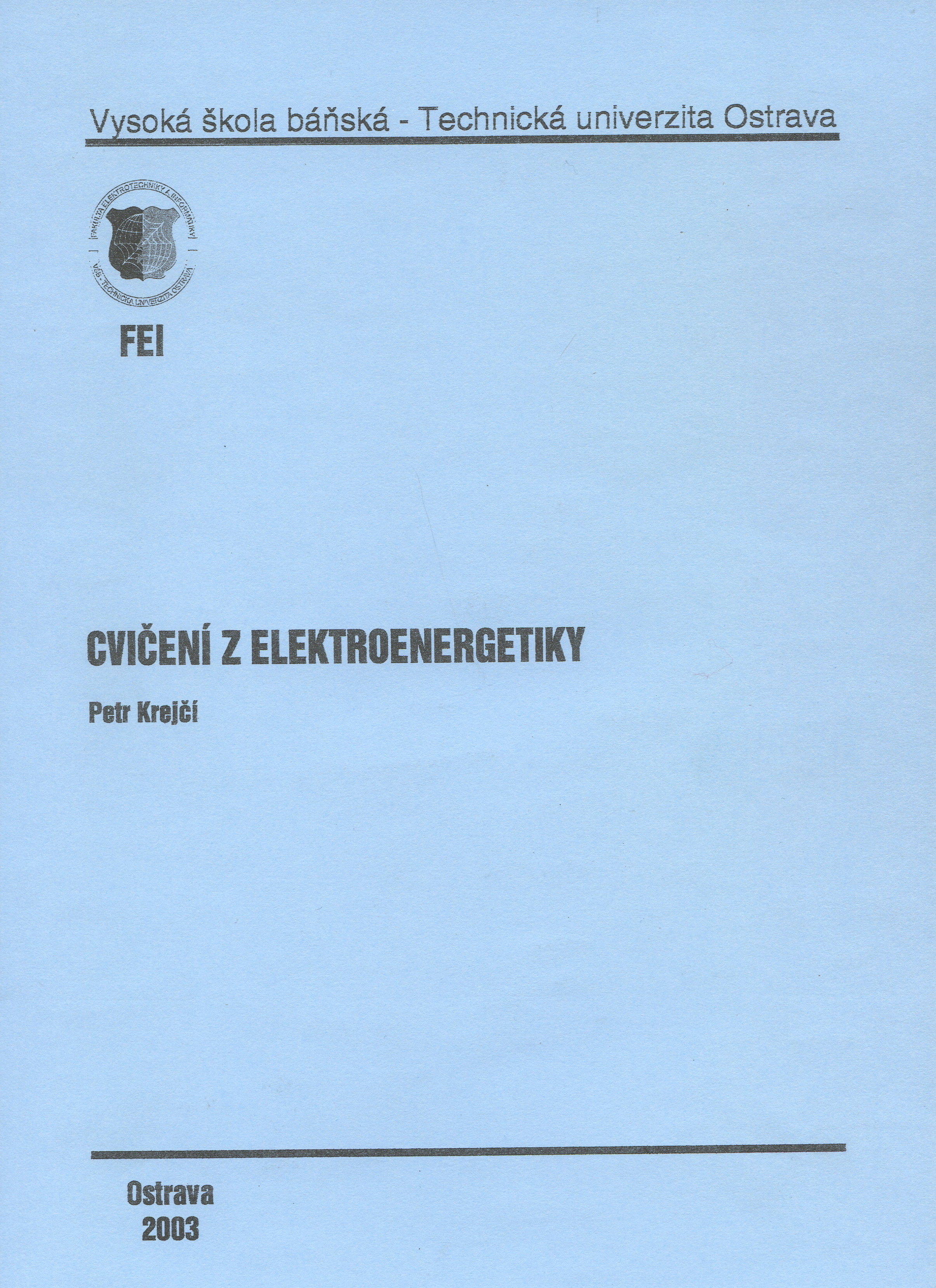 Cvičení z elektroenergetiky