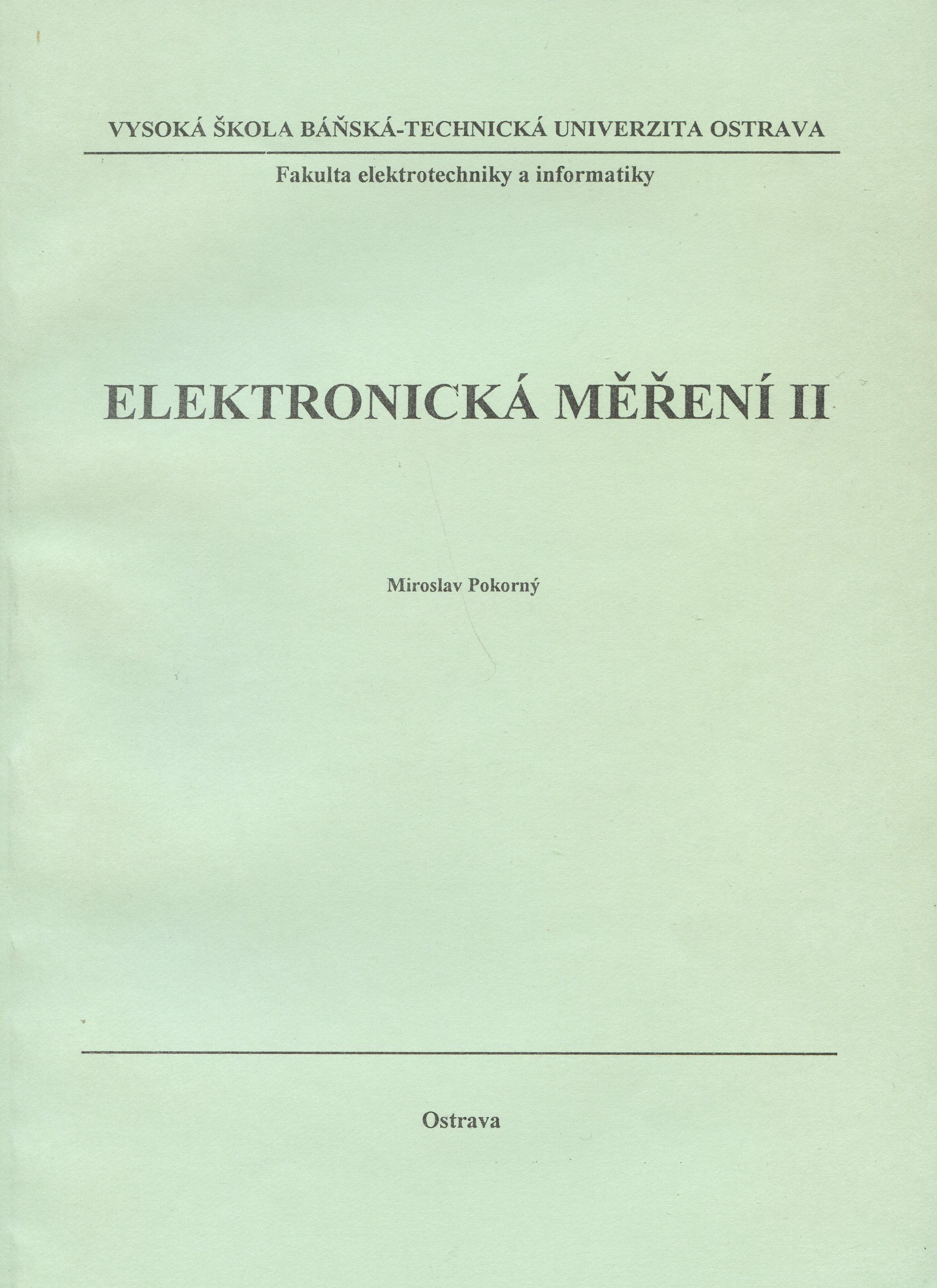 Elektronická měření II.