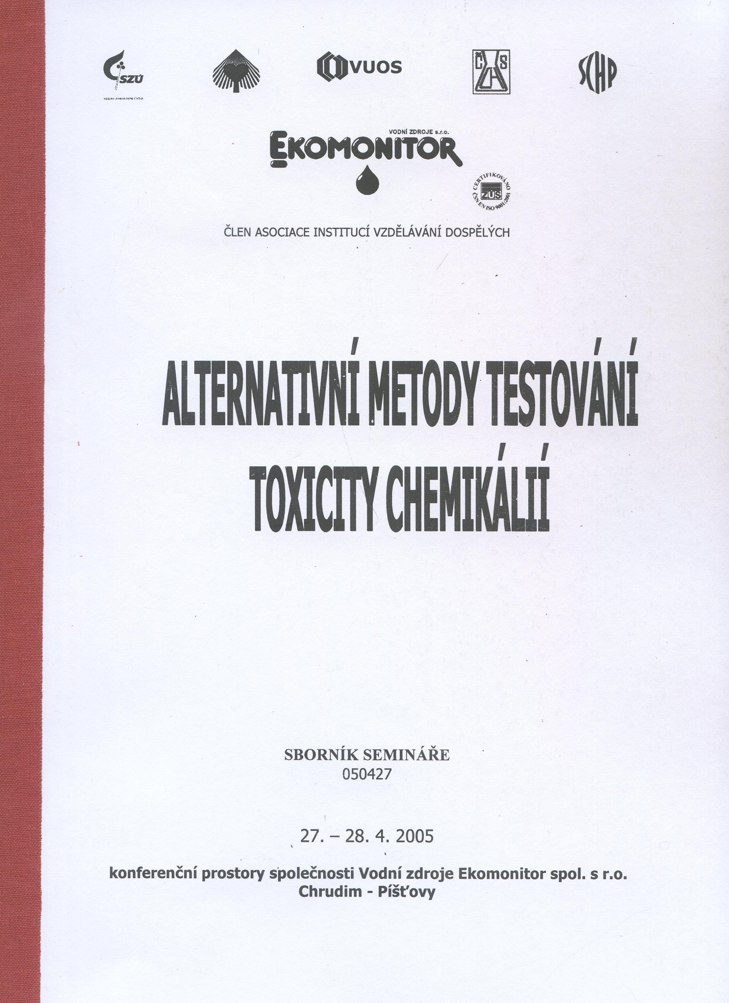 Alternativní metody testování toxicity chemikálií - Sborník semináře