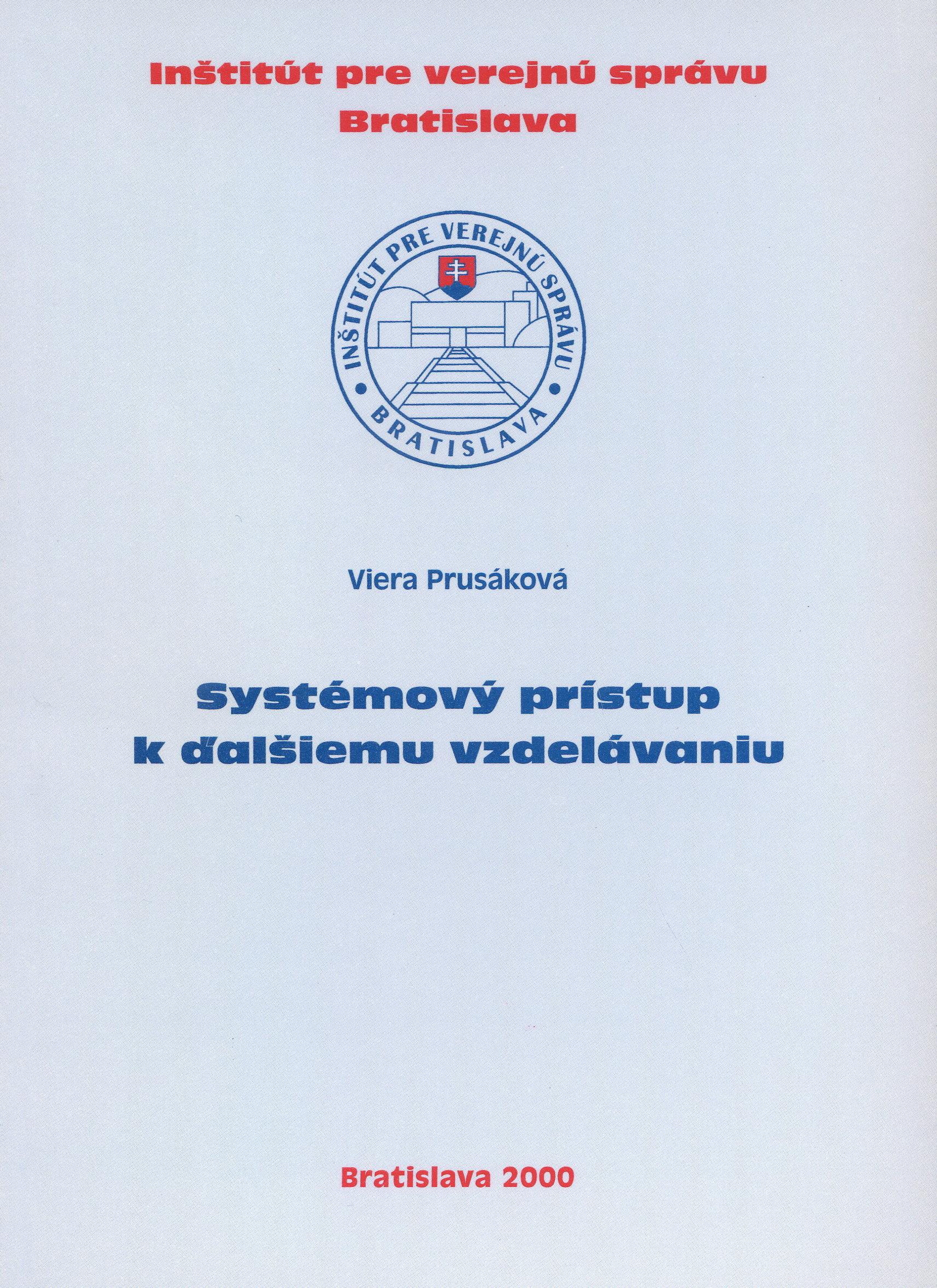 Systémový prístup k ďalšiemu vzdelávaniu