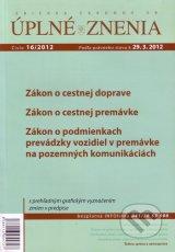 UZZ 16/2012 Zákon o cestnej doprave