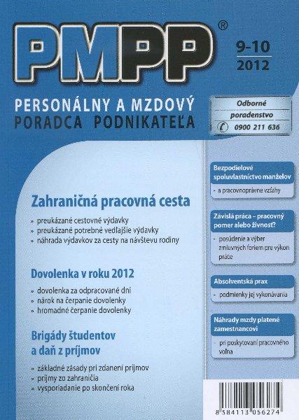 PMPP 9-10/2012 Zahraničná pracovná cesta