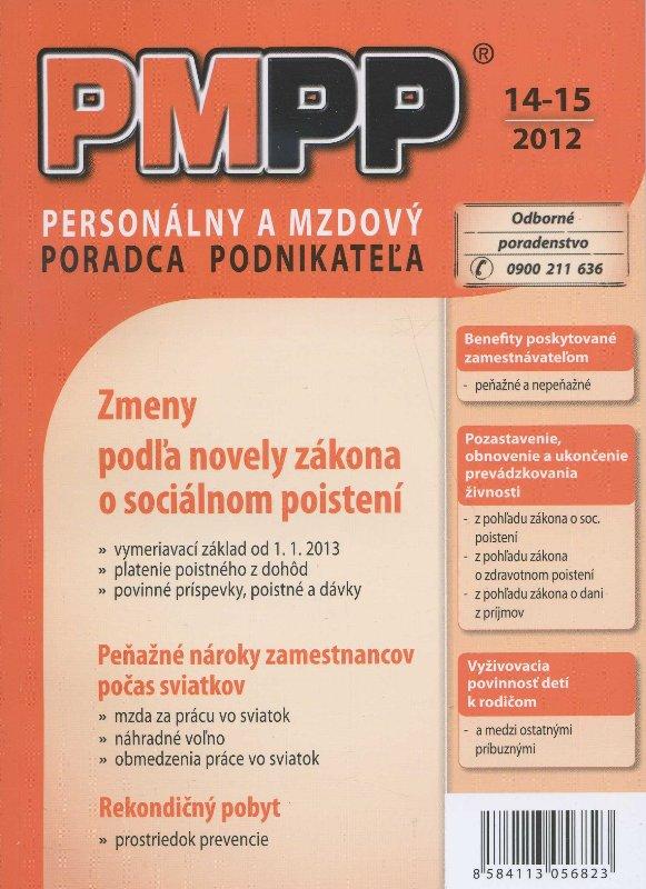 PMPP14-15/2012 Zmeny podľa novely zákona o sociálnom poistení