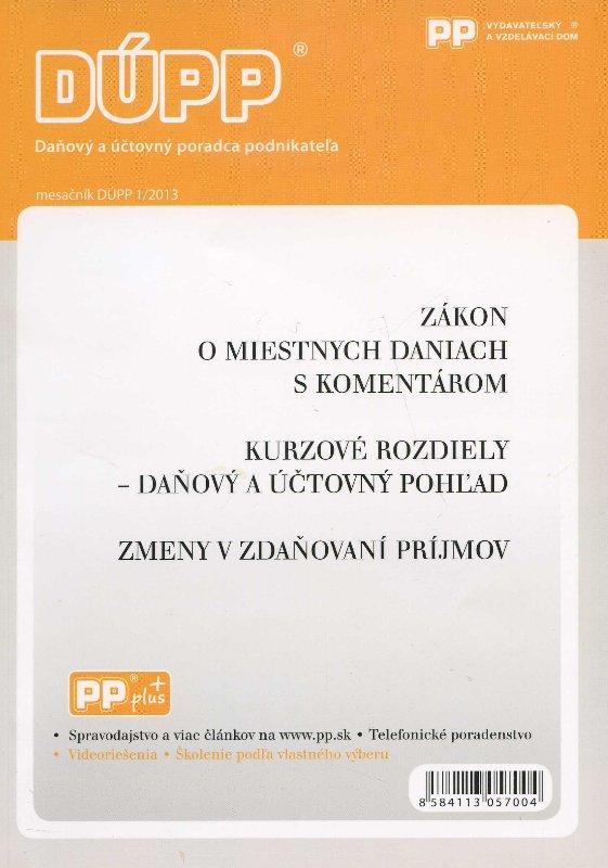 DUPP 1/2013 Zákon o miestnych daniach s komentárom