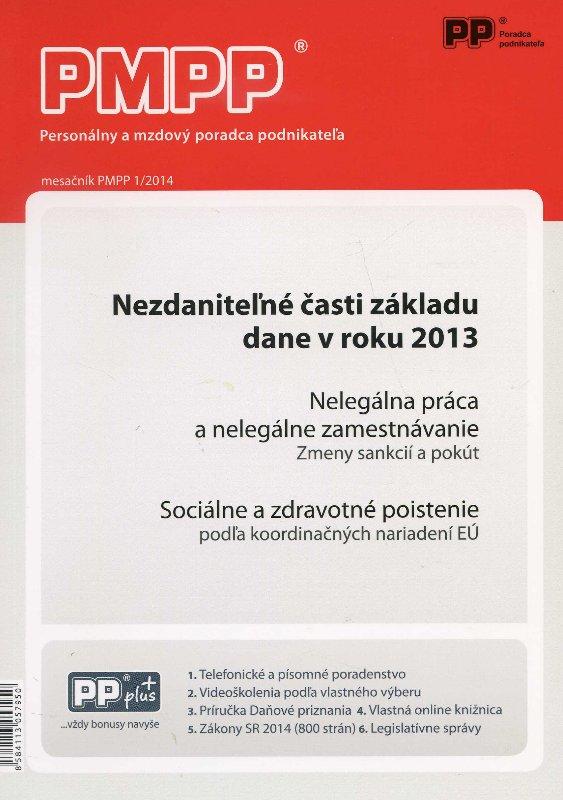 PMPP 1/2014 Nezdaniteľné časti základu dane v roku 2013