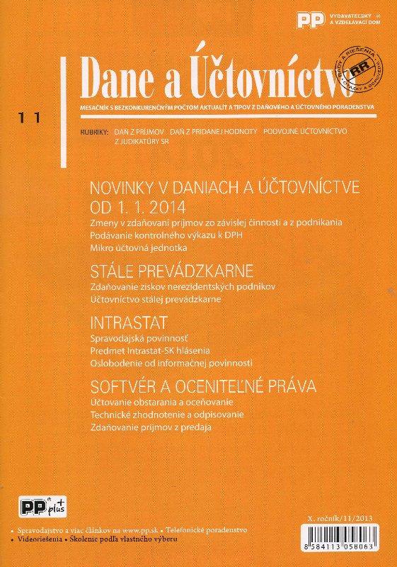 Dane a účtovníctvo 11/2013