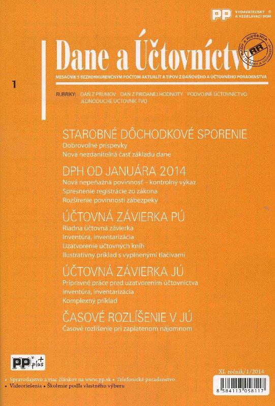 Dane a účtovníctvo 1/2014