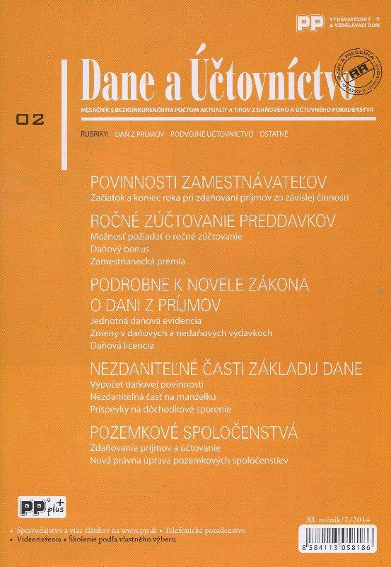 Dane a účtovníctvo 2/2014