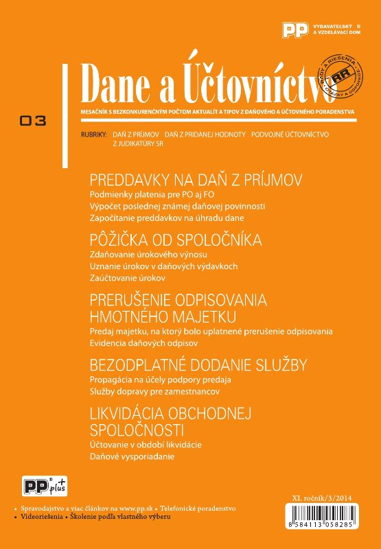 Dane a účtovníctvo 3/2014