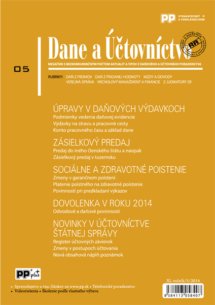 Dane a Účtovníctvo 5/2014
