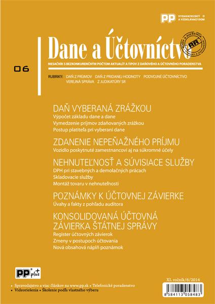 Dane a Účtovníctvo 6/2014