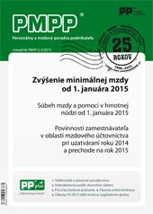 PMPP 2-3/2015 Zvýšenie minimálnej mzdy od 1.januára 2015