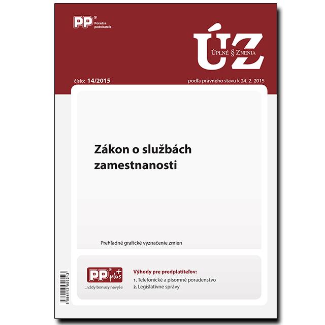 UZZ 14/2015 Zákon o službách zamestnanosti
