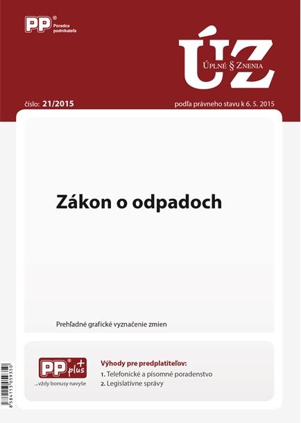 UZZ 21/2015 Zákon o odpadoch