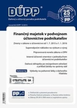 DUPP 13/2015 Finančný majetok v podvojnom účtovníctve podnikateľov