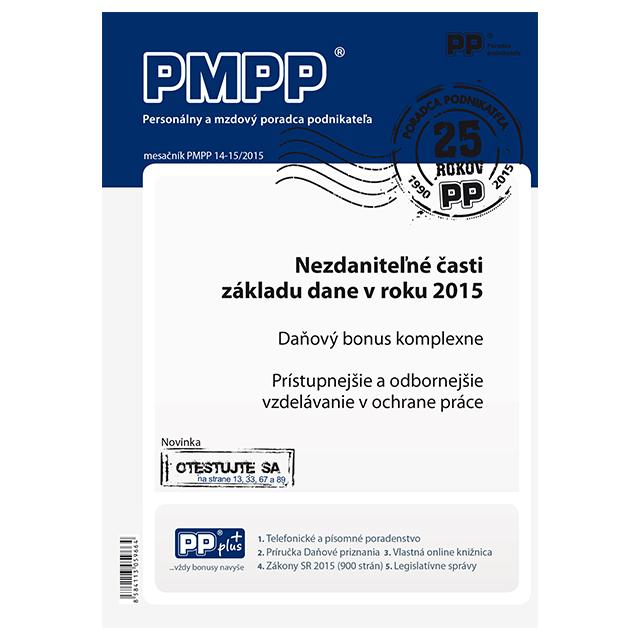 PMPP 14-15/2015 Nezdaniteľné časti základu dane v roku 2015