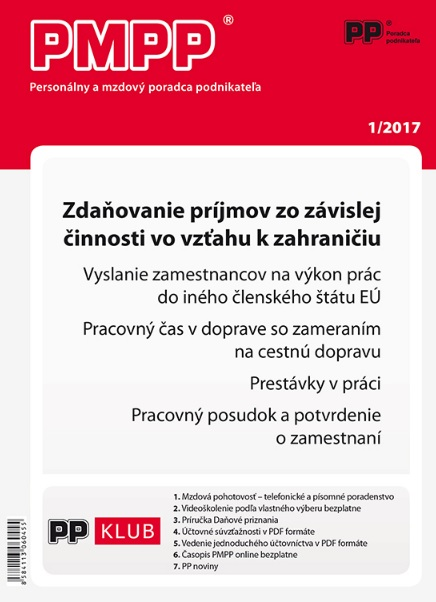 PMPP 1/2017 Zdaňovanie príjmov zo závislej činnosti vo vzťahu k zahraničiu