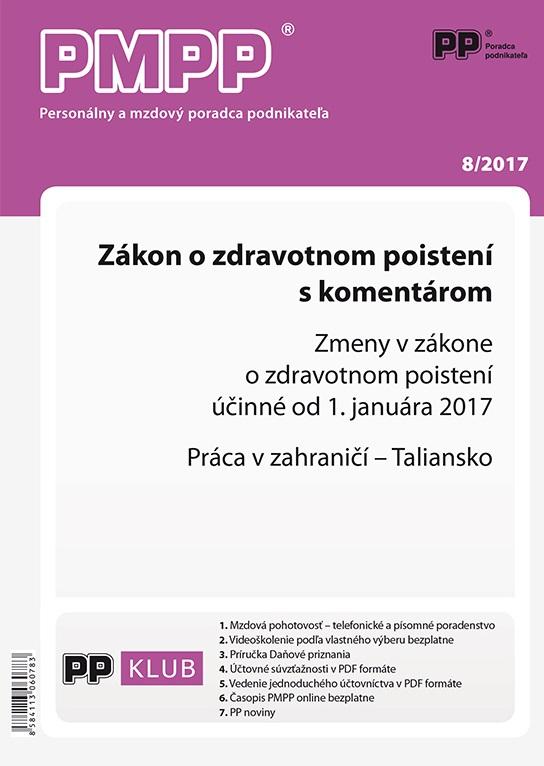 PMPP 8/2017 Zákon o zdravotnom poistení s komentárom - Zmeny v zákone o zdravotnom poistení účinné od 1. 1. 2017, Práca v zahraničí – Taliansko