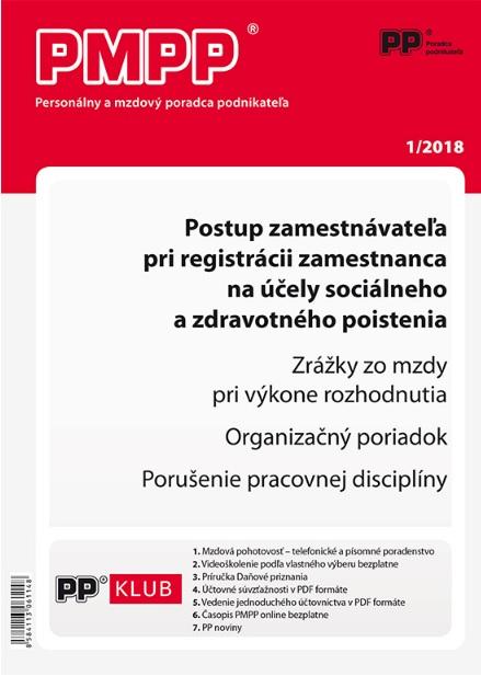 PMPP 1/2018 Postup zamestnávateľa pri registrácii zamestnanca na účely sociálneho a zdravotného pois