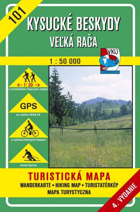Kysucké Beskydy - Veľká Rača 1:50 000 - Turistická mapa 101