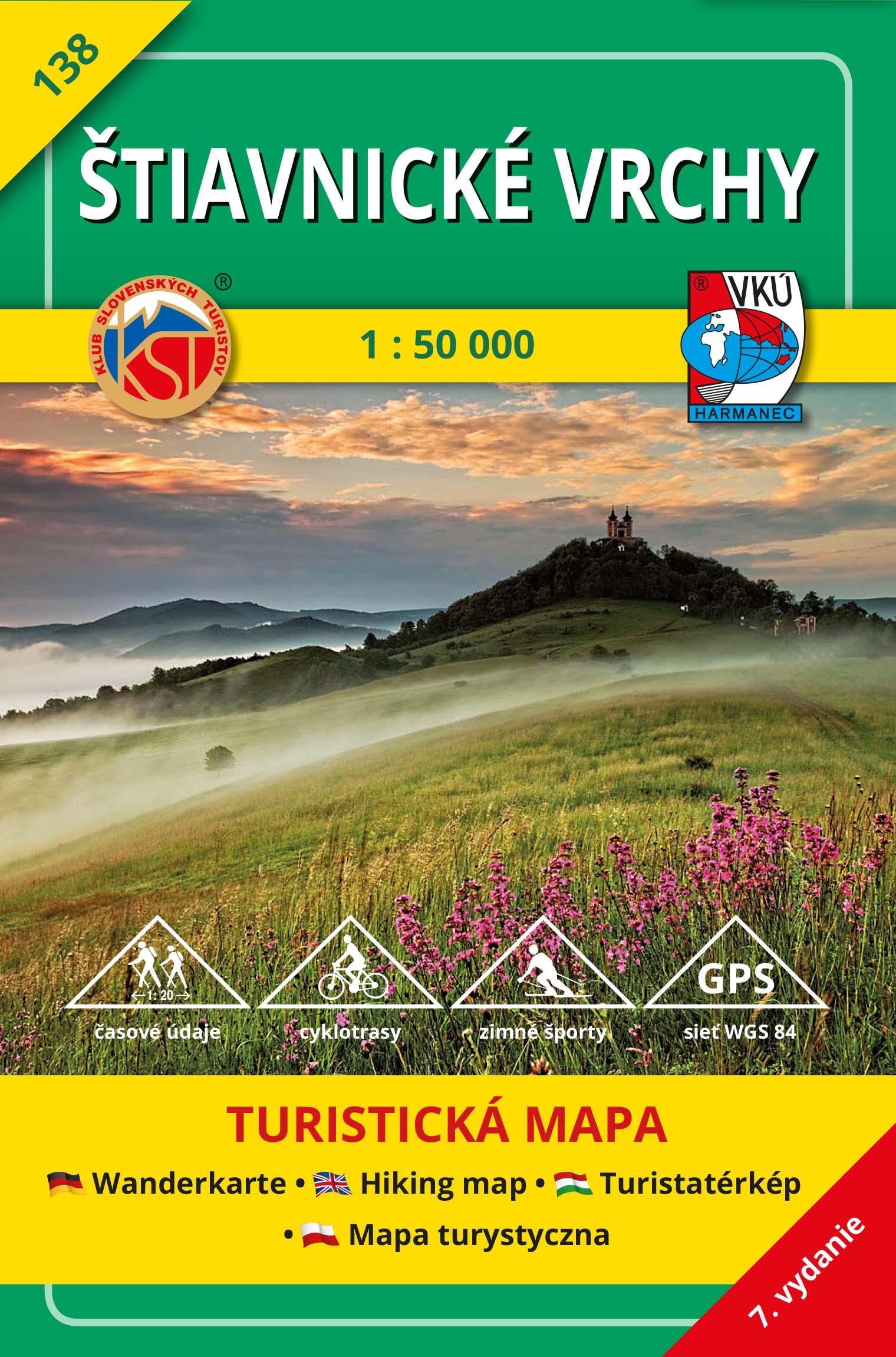 Štiavnické vrchy 1:50 000 - Turistická mapa 138