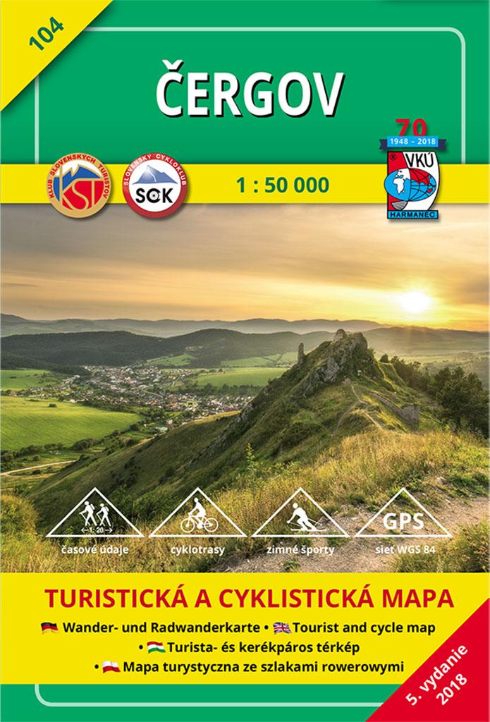 Čergov 1:50 000 - Turistická mapa 104