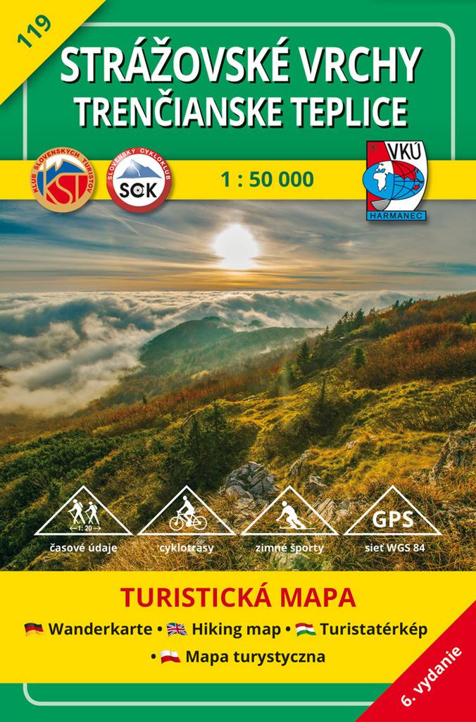 Strážovské vrchy - Trenčianske Teplice1:50 000 - Turistická mapa 119