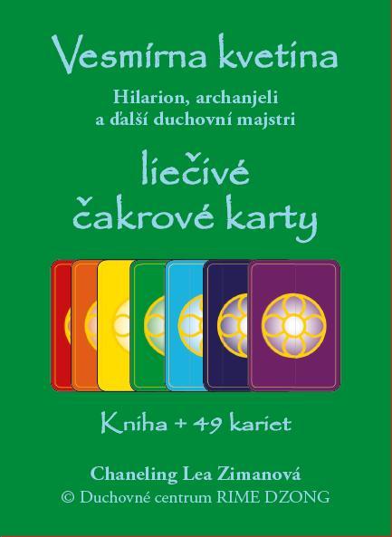 Vesmírna kvetina - liečivé čakrové karty (krabička) - Hilarion, archanjeli a ďalší duchovní majstri. Kniha + 49 kariet