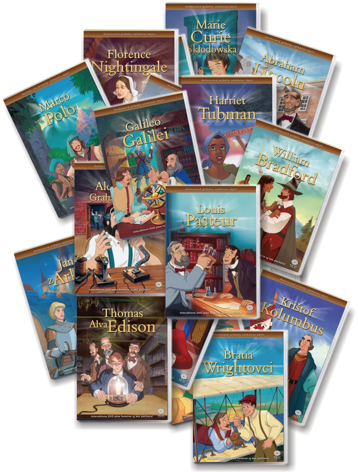 Animované príbehy velikánov dejín - Celá séria (20xDVD)