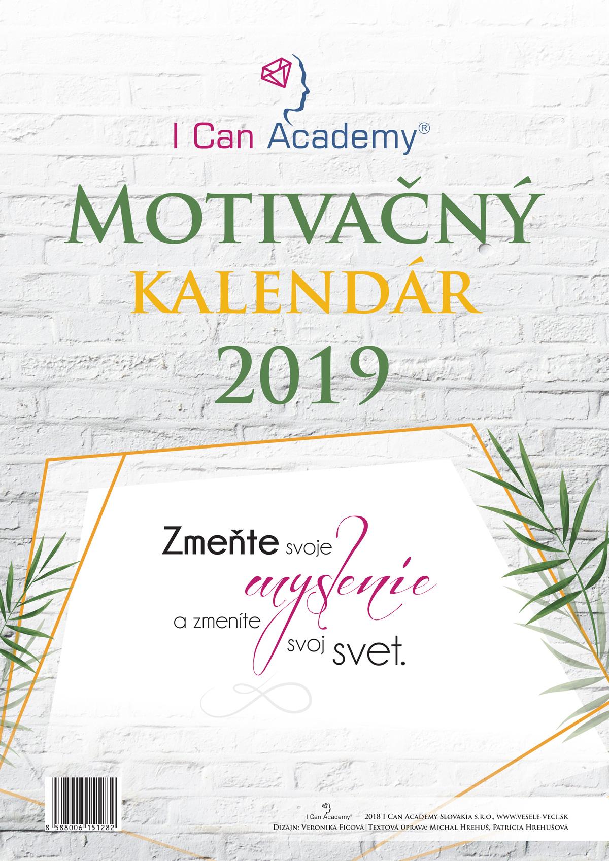 ICan Academy Motivačný kalendár 2019 - Zmeňte svoje myslenie azmeníte svoj svet
