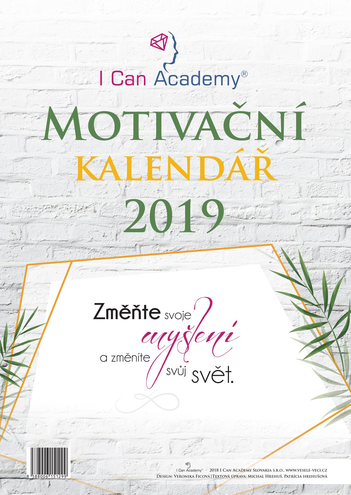 ICan Academy Motivační kalendář 2019 - Změňte svoje myšlení azměníte svůj svět