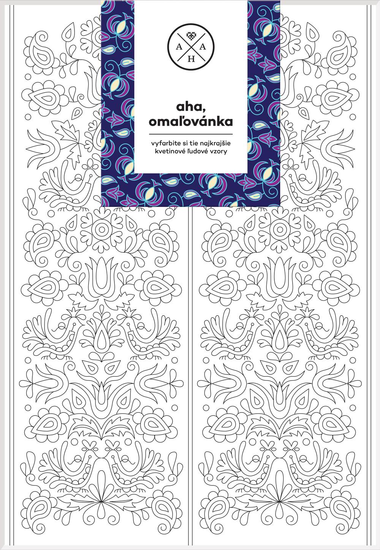 AHA - Omaľovánka - Vyfarbite si tie najkrajšie kvetinové ľudové vzory