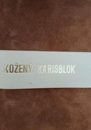 Kožený karisblok A6 - s vnútornou náplňou