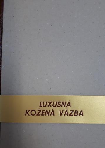 Luxusná kožená väzba - notes A4