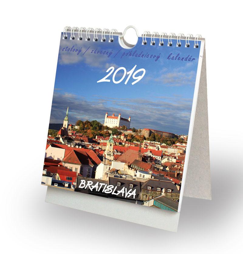 Bratislava 2019 - stolový, závesný, pohľadnicový kalendár