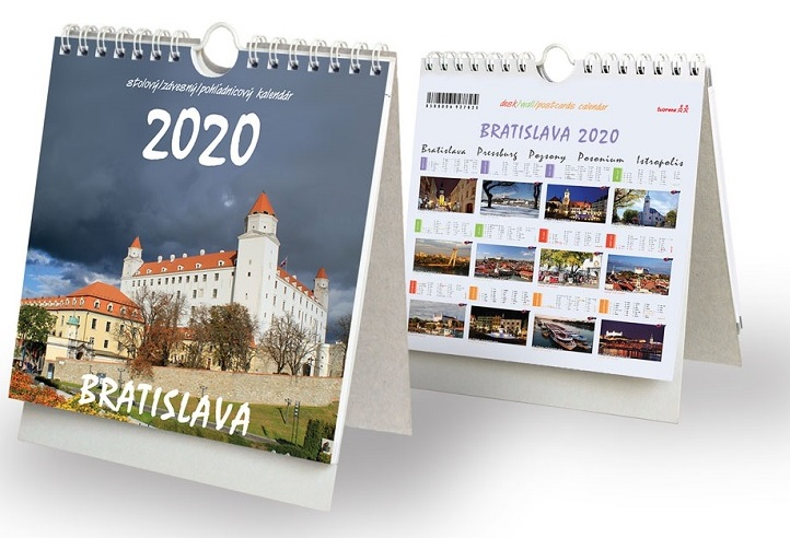 Bratislava 2020 - stolový, závesný, pohľadnicový kalendár