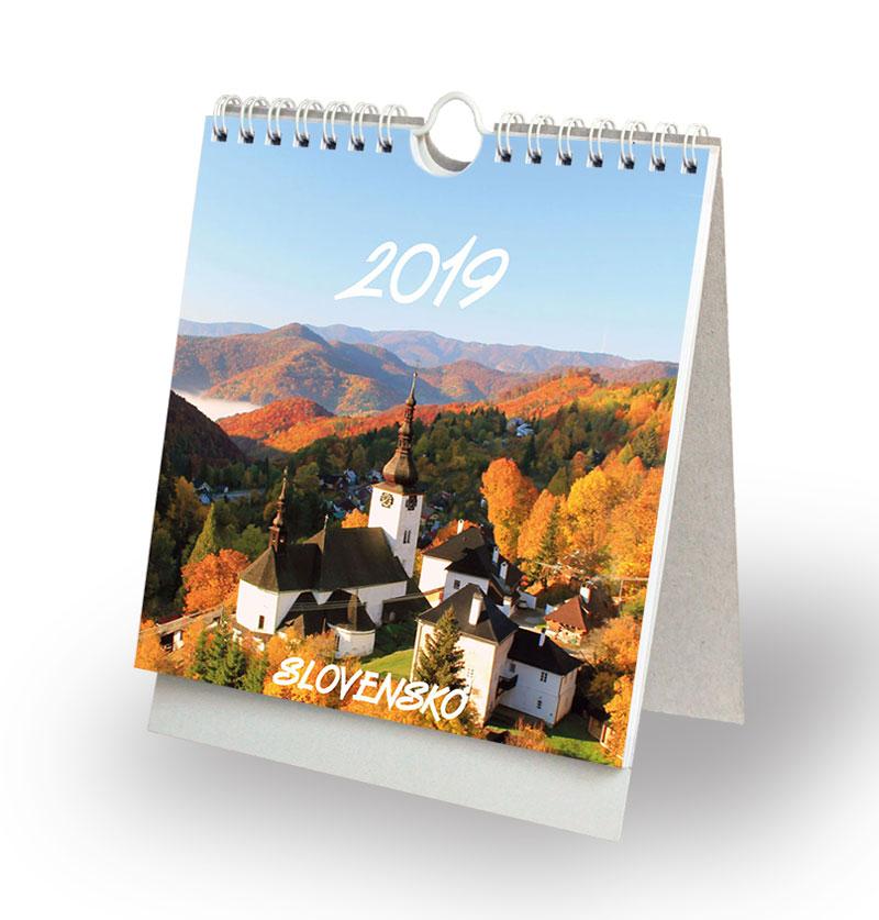 Slovensko 2019 - stolový, závesný, pohľadnicový kalendár