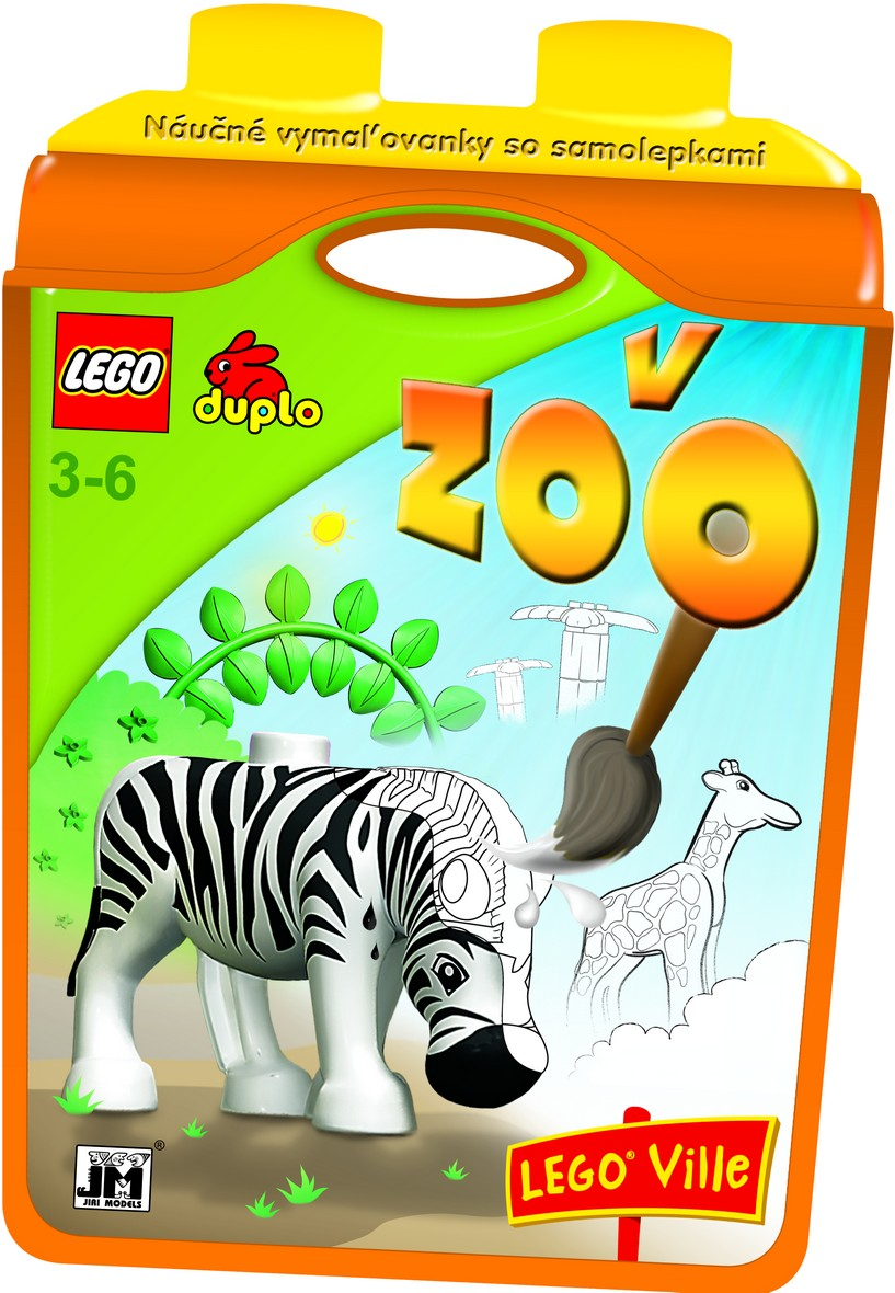 V ZOO - Lego duplo - Náučné vymaľovánky so samolepkami