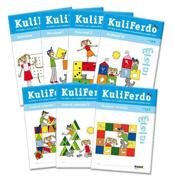Kuliferdo - špecifické poruchy učenia - Súbor 7 pracovných zošitov