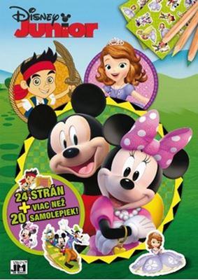 24 strán + viac než 20 samolepiek! Disney Junior - Vymaľovanka A4