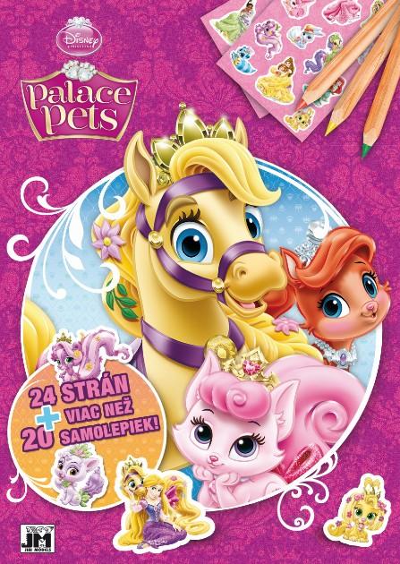 24 strán + viac než 20 samolepiek! Palace pets - Vymaľovanka A4
